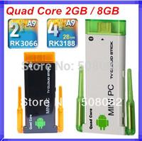 Double root wireless antenna CX-919II CX-919 II Bluetooth Mini PC Android TV box Wifi 2GB RAM 8GB Rk3188 Quad Core Cortex-A9