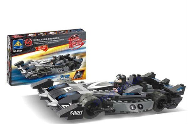 KAZI 141pcs/set Nature Speed Power Racer Children's Educational Toy Building Block Set 6504, Free Shipping(China (Mainland))