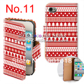 Aztec style Flip leather case for iPhone 4 with card slot 100 pcs /lot  .Each design choose the multiple of 5 pcs