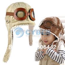 Hot Selling Children Hats Boys Flight Caps Kids Winter Warm Hats Earflap Cap Beanie Pilot  B16 7753(China (Mainland))