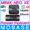 [Russian Keyboard Air Mouse] MINIX NEO X5 RK3066 Dual Core Cortex A9 Google Smart Android TV Box Wifi Bluetooth USB RJ45 HDMI