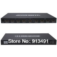 8-Port (1x8) HDMI 1.3 Amplified Powered Splitter / Signal Distributor - Ver 1.3 Full HD 1080P, Deep Color, HD Audio