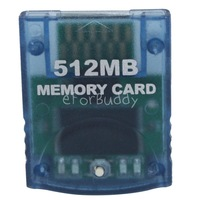 512MB Memory Card for Nintendo Wii GameCube, Blue