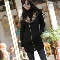2014 New Brand Spring Hooded Jackets For Women/Desgual Leopard Printed Women Jackets/Casual Coats Women Clothing