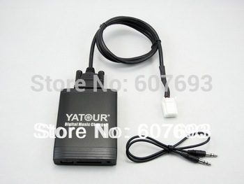USB Car Stereo Adapter MP3 AUX  interface CD player Small 6+6 plug fit Toyota lexus scion 2003-2013