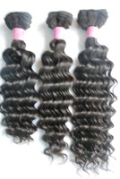 100% Brazilian Virgin human hair  AAAAAAAAAA, machine weft, deep wave,   Natural  color ,high quality,free shipping