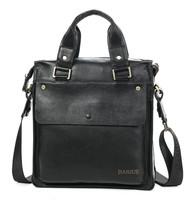 Genuine leather Mens Simple bag designer handbags high quality leather black Used handbags newspaper handbag M287-2