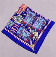 "21""x21"" silk pocket scarf animal print swam scarf fashion necktie / women boutique hair bows free shipping"