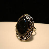2014 New Fashion Jewelry Accessories Totem Onyx Vintage Rings For Women Gift Free Shipping