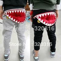 Free shipping, Big month Trousers,Boys Girls pants,zipper trousers,  baby casual pants long trousers kz1368