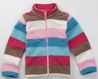 Wholesale 10 pcs Autumn winter children child baby girl boy Kids color striped polar fleece Coat jacket outwear top WM1435