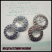 Free shipping_(100pieces/lot)2013new Golden lace and silvery lace with diamond High quality adornment  buttons