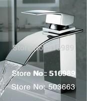 e-pak Pro Bathroom surface Mount Single Hole Chrome Finish Faucet Waterfall Tap A-502