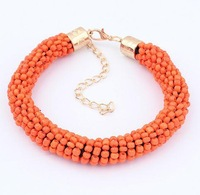 fashion statement color bead bracelet 2013 jewelry wholesale bubble bracelets for women