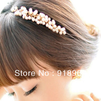 2013 Fashion Women's Hair Accessories/ Lady Headband / Sweet Handmade Small Pearl Hair Bands/ Free Shiping
