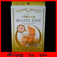 12pairs=24pieces/lot free shipping Exfoliating foot mask peeling foot care mask foot socks (with retail box)