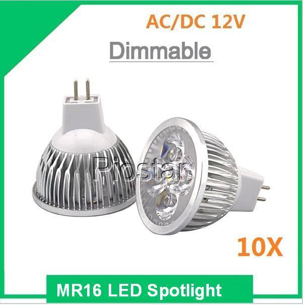 (10pcs/lot) Dimmable 3W 4W 5W 6W 7W 9W 10W 12W 15W MR16 12V LED Spotlight Bulb Light 12V MR16 led lamp downlight(China (Mainland))
