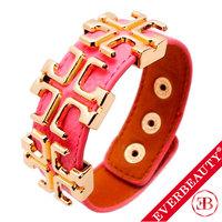 EB 2013 Hot Sale New Arrival Fashion Charm Genuine Leather bracelet Gold Plated Cross Bracelet Bangel Wholesale Free Shipping