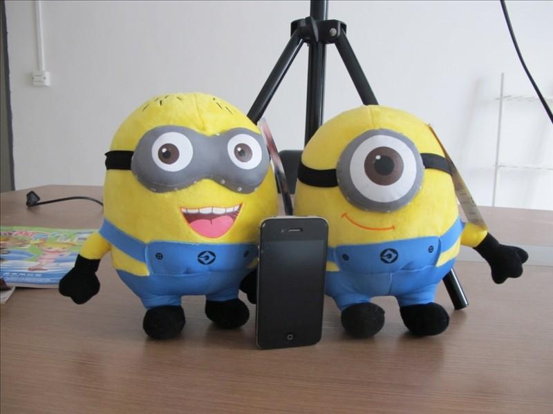 Hot sale! 3PCS Despicable Me Movie Plush Toy 3D Eyes Minions Stuffed