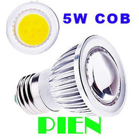 E27 COB 5W LED Lamp SMD GU10 Spotlight Bulb Super Bright Home ceiling bedroom AC 110V|220V Convex Cover Free Shipping 10pcs/lot