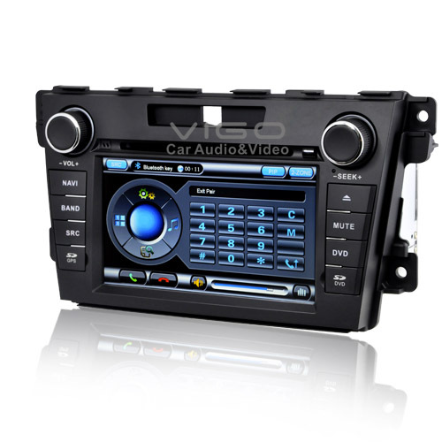 7&#39;&#39; HD Mazda CX-7 2010 2011 Stereo DVD Player Autoradio Headunit GPS Sat Nav Navigation Multimedia with Free Map(Hong Kong)