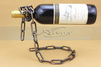 Free Shipping Metal Iron Wine Rack Floating Magic Wine Rack