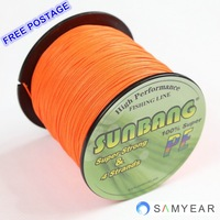 Free Shipping SUNBANG PE Braid Fishing Line 4 strands 30LB 100M