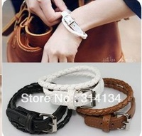 Min.order is $10 (mix order) Free shipping Full House Song Hye Kyo simple PU quality wound a belt bracelet jewelry wholesale