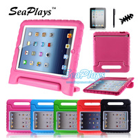 SeaPlays Durable Kids Children Safe Shockproof Thick EVA Hand Case Cover For the New iPad 2 3 4 Free Screen Protector and Stylus