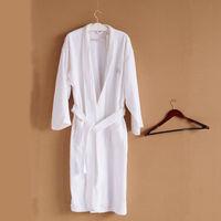 Bathrobe,beautiful kimono collar cut pile bathrobe, five star/100%cotton, Size M/L, unisex, eco-friendly, free shipping D008