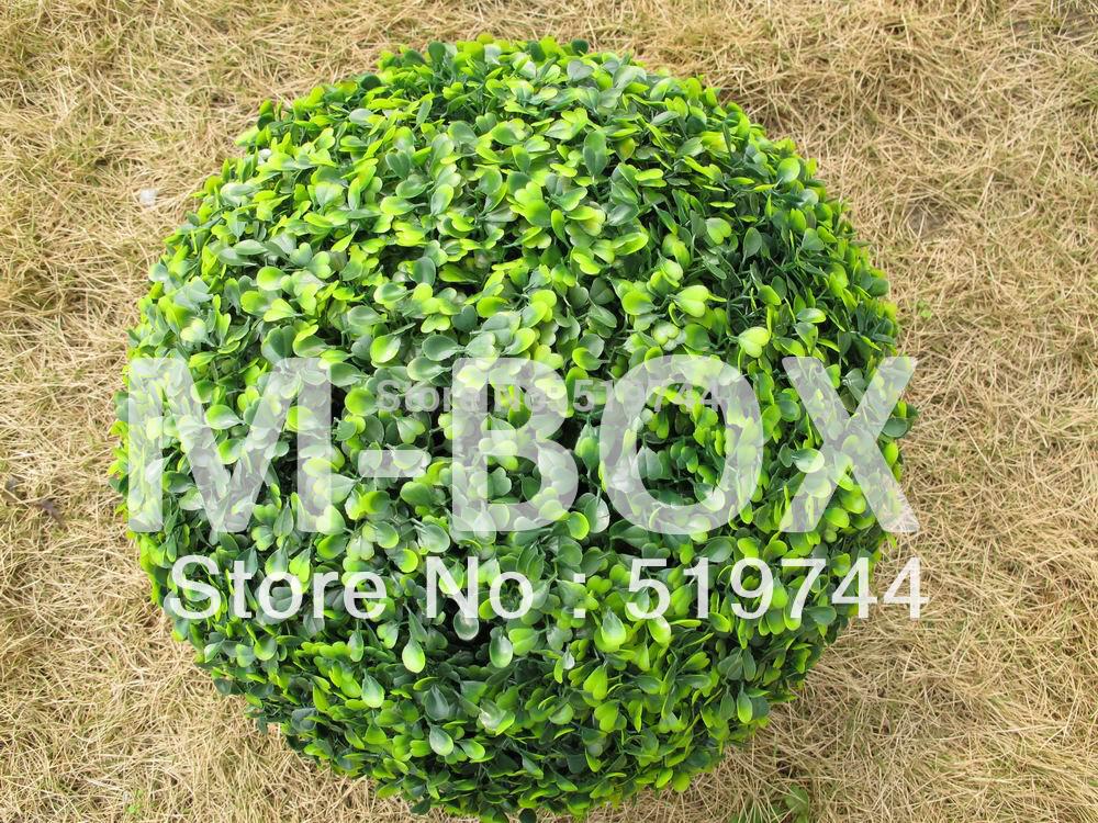 Compre Hot vendas buxo verde 28 cm bola cerca do jardim bola verde de