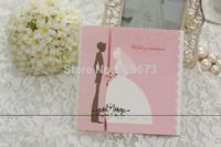 Silver Scalloped Edge Bride & Groom Wedding Invitation (Set of 200)  greeting card wedding greeting card