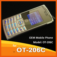 CHEAP OEM Branded 65k Color Screen English & Arabic Menu Keypad CDMA Cellphone OT-206C Mobile Phone Lowest price retail package