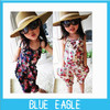 2013 free shipping new Arrival girl's summer suspender pants girl's flower Jumpsuits baby overalls  loose  trousers  1pcs/lot