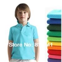 Colorful Boys shirt  Summer 2014 Short-sleeve Brand Kids Boy Clothing/Tops Children Girls tennis Shirts