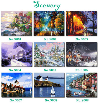 Free Shipping DIY Painting By Numbers Acrylic Drawing Art Set Canvas Wall Picture Home Decoration Hand-painted The Picture
