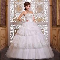Free Shipping 2014 Newest Design Fashion  Fashion High-end Bride Princess Lace Wedding Dress