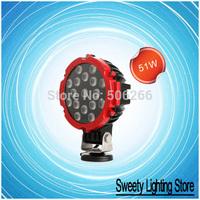 """6"""" 51W Off Road light 12V 24V Floodlight LED Work Light OffRoad Jeep Boat Truck IP67 51w led work light"""