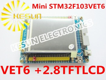 FREE SHIPPING ARM Cortex-M3 mini stm32 stm32F103VEt6 Cortex development board + 2.8' TFT LCD touch screen