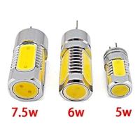 5 Piece/lot Led Lamps G4 COB High Power 7.5W 6W 5W DC 12V White/Warm white Led