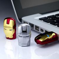 Retail Keychain Avengers LED Light IRON MAN USB Flash Drive Pendrive Memory Stick Pen Drive 2GB 4GB 8GB 16GB 32GB Free shipping