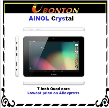 Ainol novo7  crystal  quad core 7inch tablet pc  capacitive Actions ATM7029 CPU Cg1000+ GPU 1GB/8GB 1024*600 android 4.1 tablet