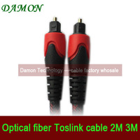 1pcs/lot stereo optical fiber cable Toslink cable plug Digital audio cable nylon mesh 3M for xbox dvd player free shipping