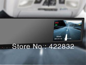 HD 720P Car DVR rearview mirror +4.3'' Color TFT LCD + touch key+G-sensor / Car DVR tft monitor