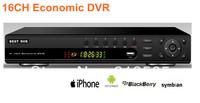 Cheap digital display 16Ch CCTV/IP Camera  DVR/HVR/NVR Recorder 2ch D1 + 14CIF Resolution Free shipping