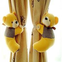 Free shipping wholesale window curtain hook tieback cute bear Curtain buckle hangers belt 5 colors 18x15cm GetUBack D010