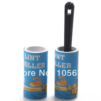 J024 Dust Collector Sticky Device Paper Pet Wool Roller Cleaner Tape Pet Products Wholesale 8 pcs/lot