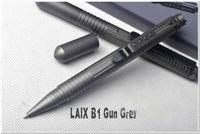 LAIX Tactical Pen B1 / B2 2types 1pc Gun Grey Camping Writing Defense Pen 6061-T6 Aluminum self-help for everyday carry guidance