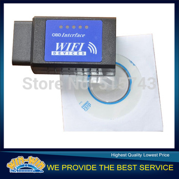 Supports All OBD II Protocols elm327 Wifi obd2 Scanner Diagnostic Tool elm 327 V1.5 Wireless Works on Andriod iphone ipad PC