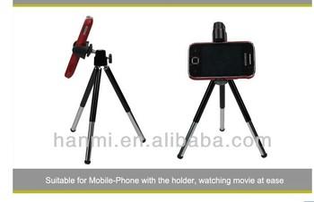Black NEW Mini Metal Heaad Table Leg Desktop Portable Tripod for Camcorder Camera Canon Nikon Camera Digital Phone Max load 800g